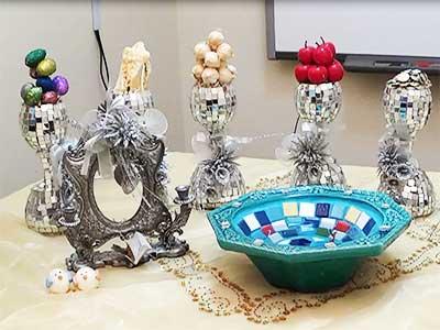 ساخت ظروف هفت سین طرح آینه